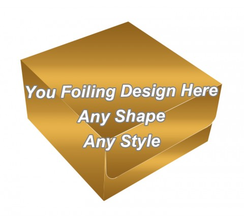 Golden Foiling - Tuck End Auto Bottom Cupcake Box